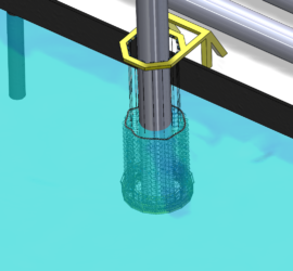 Animation of an HSD-System installed on the driven pile